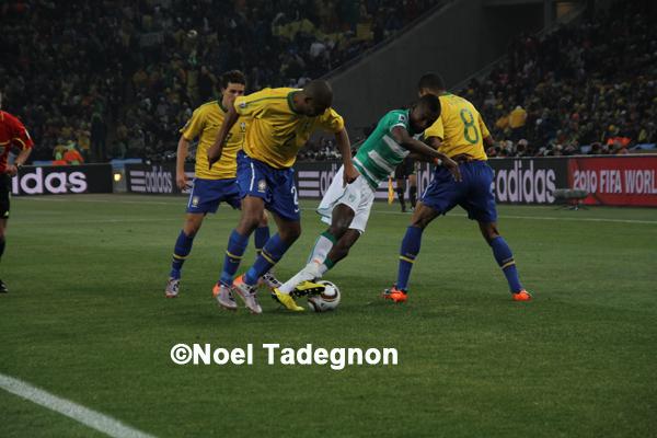 Drogba marque le premier but africain contre le br sil noel tadegnon - Resultat coupe du monde 2010 ...